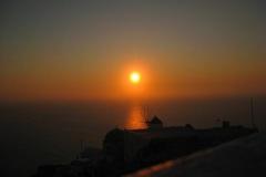 sunset santorini  griekenland