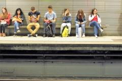 mensen metrostation