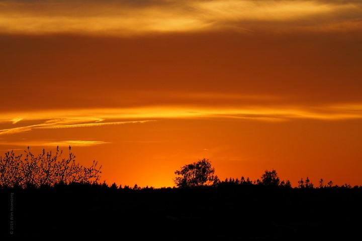 zonsondergang Ginkelsehei