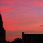 zonsondergang kerken in Bennekom (2017)